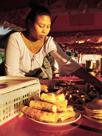 Casava vendor in Madagascar