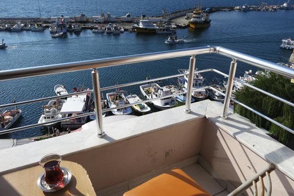 View of Sinop harbor, Turkey