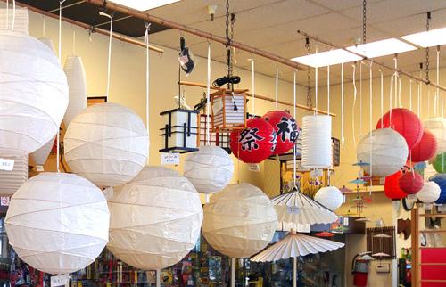 Japanese lanterns at Soko Hardware in Japantown, San Francisco