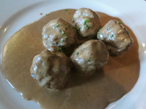 Swedish meatballs, or kottbullar, in Malmo, Sweden