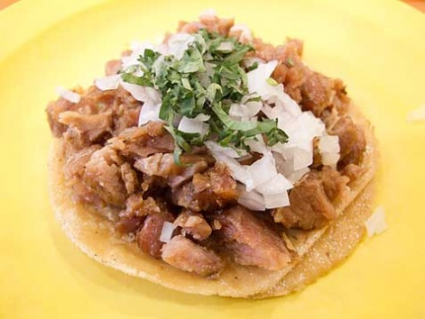 Taco de suadero from Mexico City