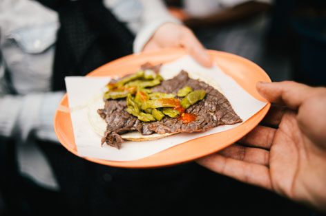 Steak taco from La Merced Market, Mexico City