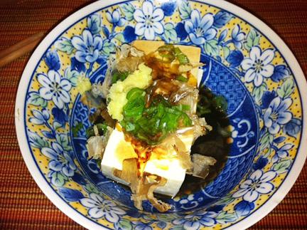 Cold tofu, or hiyayakko, from Japan