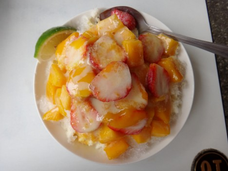 Tsua bing shaved ice, from Taiwan