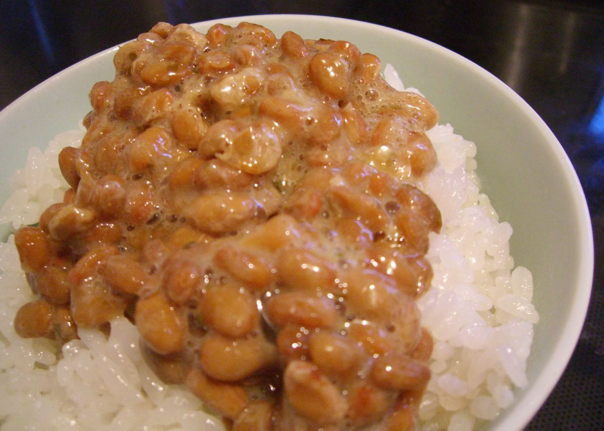 Japanese fermented soybeans, or natto