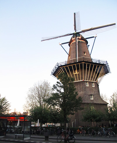 Brouwerij 't IJ in Amsterdam, a brewery set under an old windmill