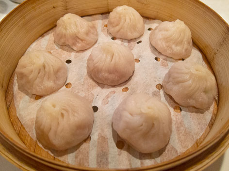 Xiao long bao or soup dumplings in New York City