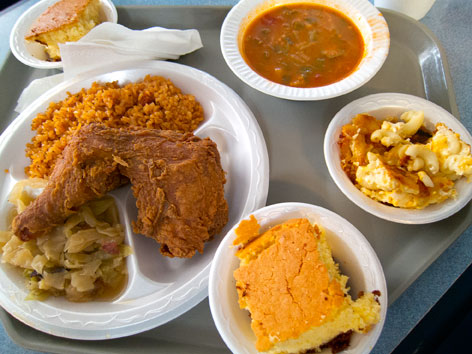 Lowcountry soul food from Bertha's Kitchen in Charleston