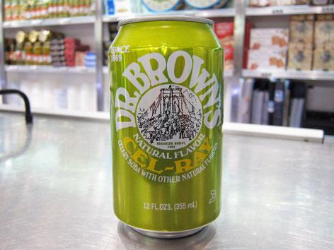 Dr. Brown's Cel-Ray soda is a NYC Jewish deli icon.