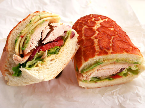 A sandwich on Dutch crunch bread in San Francisco, CA