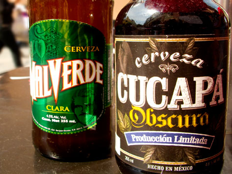 Craft beer from El Black in Mexico City.