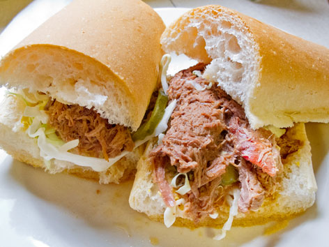 A debris roast beef po'boy from Mother's in New Orleans.