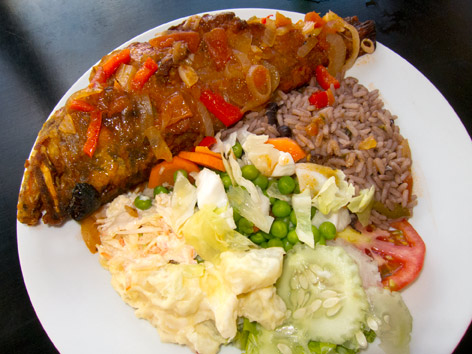 Local seafood in creole sauce antigua local food guide for Antiguan cuisine
