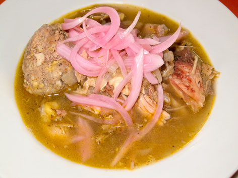 Escabeche de pavo in Playa del Carmen, Mexico