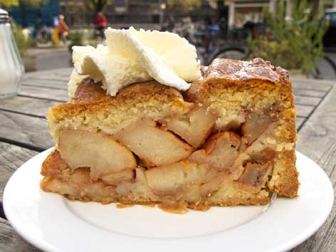 A piece of appeltaart from Café Winkel in Amsterdam.