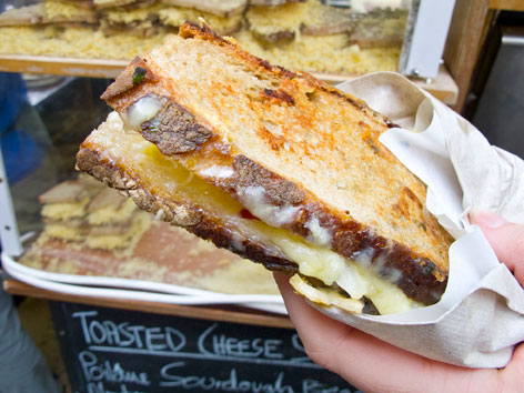 A cheese toastie from Kappacasein in Borough Market, London, England