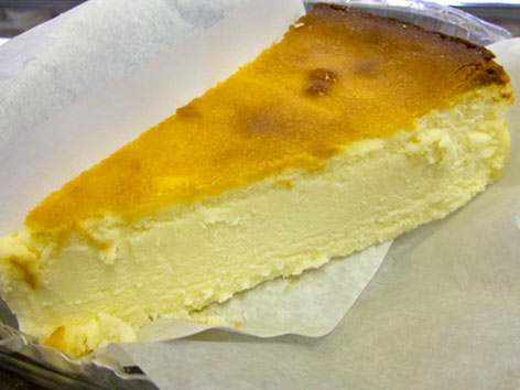 A slice of D'Aiuto's NY cheesecake in New York City.