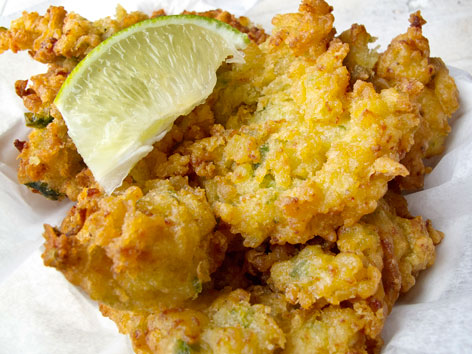 Fried conch fritters from Alabama Jack's in the Florida Keys.