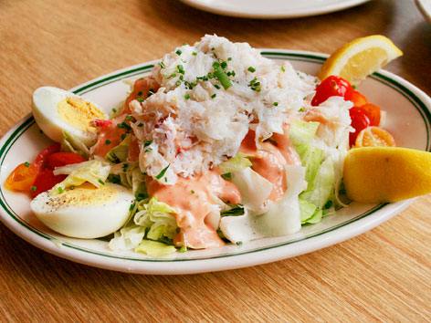 Dungeness crab Louie at Woodhouse Fish Co. in San Francisco, CA