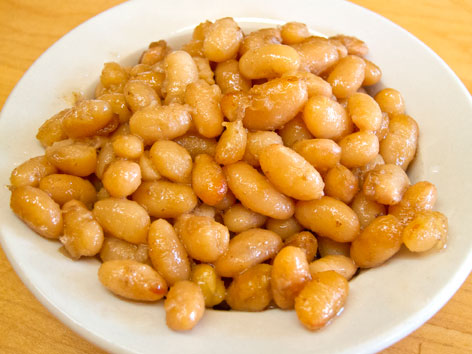 Feves au lard, Quebec-style baked beans, from La Binerie Mont-Royal in Montreal, Quebec, Canada