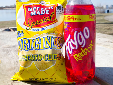 Better Made chips and Faygo soda from Detroit.