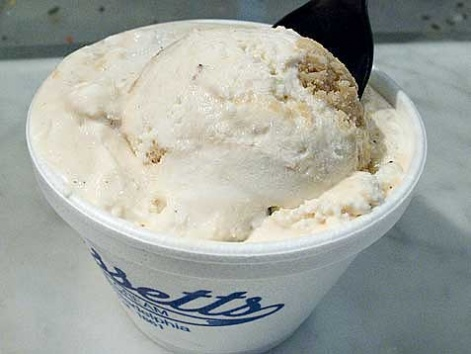 A cup of Bassetts ice cream from Reading Terminal Market in Philadelphia.
