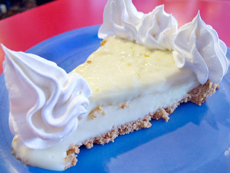 A piece of key lime pie from Mrs. Mac's Kitchen in the Florida Keys.