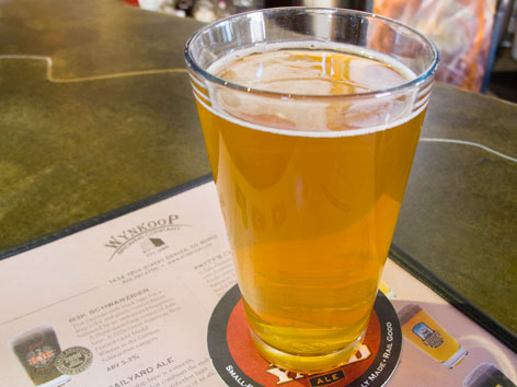 A glass of local craft beer from Wynkoop Brewing Company in Denver, Colorado.
