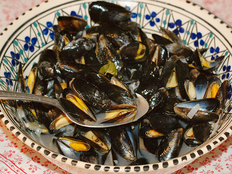 Local musssels from the Charente-Maritime region of France.
