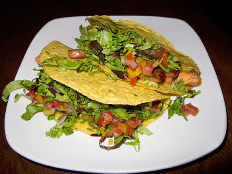 Mountain trout tacos from the Thirsty Monk in Asheville, North Carolina.