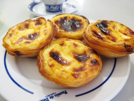 Pasteis de nata from Belem, in Lisbon, Portugual