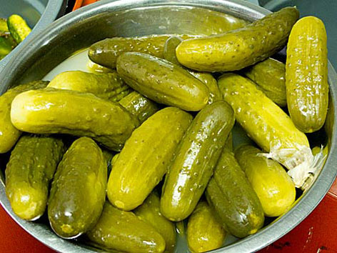 A bowl of pickles from The Pickle Guys on Essex Street in New York City.