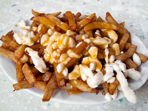 Classic poutine from La Banquise diner in Montreal, Quebec, Canada