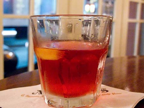A classic Sazerac cocktail from the Hermes Bar in New Orleans.