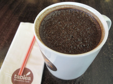 A cup of sikwate in Cebu, Philippines