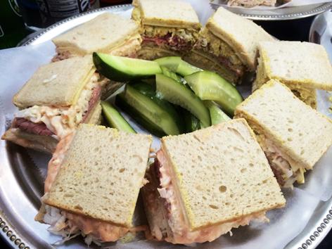 The iconic sloppy Joe sandwich from Town Hall Deli in South Orange, NJ.