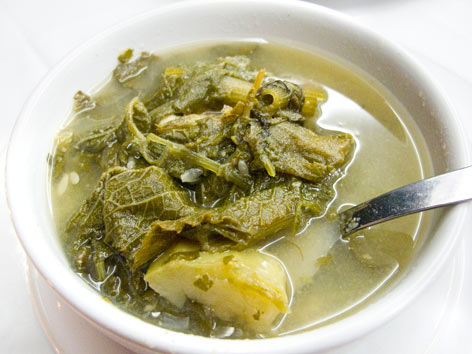 Sopa de guias from Casa de la Abuela in Oaxaca, Mexico.