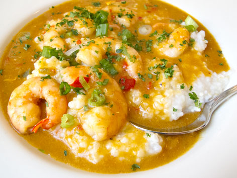 Shrimp and grits from Early Girl Eatery in Asheville, North Carolina.