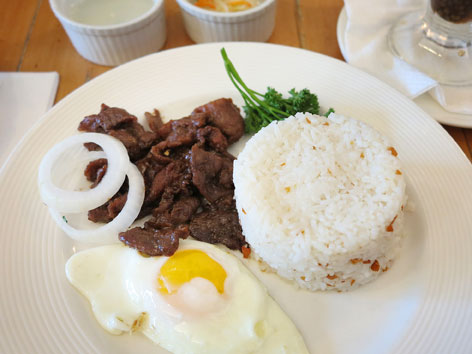 Tapsilog from Conti's in Manila, the Philippines