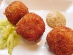 Fried boudin balls from Cochon in New Orleans, LA