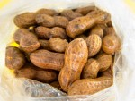 Boiled peanuts from the Marion Square farmers market, Charleston, SC