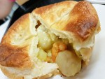 Curried scallop pie from Richmond Bakery near Hobart, Tasmania