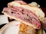 A beef on weck sandwich from Schwabl's in Buffalo, New York.