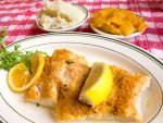 Boston scrod at Durgin Park.