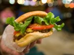 Shake Shack cheeseburger in New York City.
