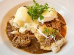 Eggs cochon de lait from Commander's Palace in New Orleans.