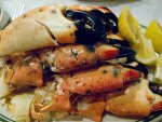 Florida stone crab claws from Joe's Stone Crab in Miami, Florida