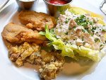 Fried oysters with chicken salad from Oyster House in Philadelphia.