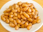 Feves au lard, or traditional Quebec-style baked beans, from La Binerie Mont-Royal in Montreal, Quebec, Canada
