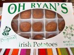 A box of Oh Ryan's Irish potatoes from Philadelphia.